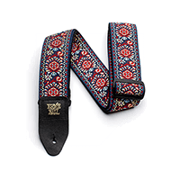Royal Bloom Jacquard Guitar Strap Thumb