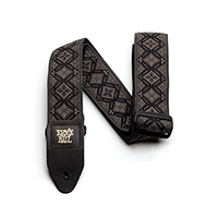 Sangle Jacquard motif Regal Black pour Guitare Thumb
