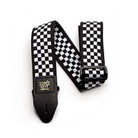 Ernie Ball Black and White Checkered Jacquard Strap Thumb