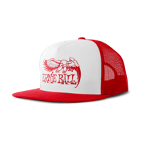 Gorra roja con logo de Ernie Ball en blanco   Thumb