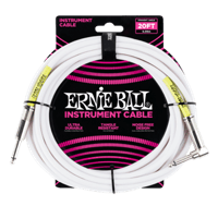 20' Straight / Angle Instrument Cable - White Thumb