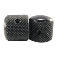 Tele-style Knobs Black Aluminum Set of 2 Thumb