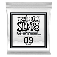 .009 M-Steel Plain Electric Guitar Strings 6 Pack Thumb