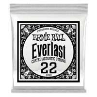 .022 Everlast Coated Phosphor Bronze Acoustic Guitar Strings 6 Pack Thumb