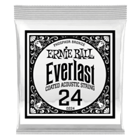 .024 Everlast Coated Phosphor Bronze Acoustic Guitar Strings 6 Pack Thumb