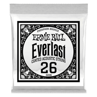 .026 Everlast Coated Phosphor Bronze Acoustic Guitar Strings 6 Pack Thumb