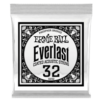 .032 Everlast Coated Phosphor Bronze Akustik-Gitarrensaite 6er Pack Thumb
