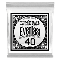 .040 Everlast Coated Phosphor Bronze Acoustic Guitar Strings 6 Pack Thumb