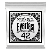 .042 Everlast Coated Phosphor Bronze Acoustic Guitar Strings 6 Pack Thumb