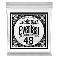 .048 Everlast Coated Phosphor Bronze Acoustic Guitar Strings 6 Pack Thumb