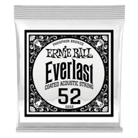 .052 Everlast Coated Phosphor Bronze Acoustic Guitar Strings 6 Pack Thumb