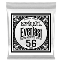 .056 Everlast Coated Phosphor Bronze Acoustic Guitar Strings 6 Pack Thumb