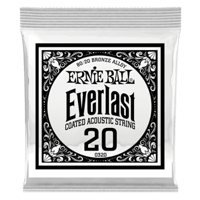 .020 Everlast Coated 80/20 Bronze Akustik-Gitarrensaite 6er Pack Thumb
