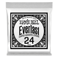 .024 Everlast Coated 80/20 Bronze Acoustic Guitar Strings 6 Pack Thumb