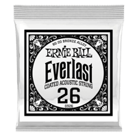 .026 Everlast Coated 80/20 Bronze Acoustic Guitar Strings 6 Pack Thumb