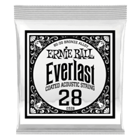.028 Everlast Coated 80/20 Bronze Akustik-Gitarrensaite 6er Pack Thumb