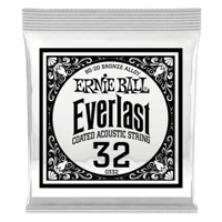 .032 Everlast Coated 80/20 Bronze Akustik-Gitarrensaite 6er Pack Thumb