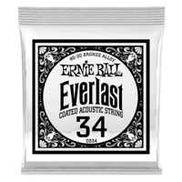 .034 Everlast Coated 80/20 Bronze Akustik-Gitarrensaite 6er Pack Thumb