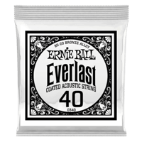 .040 Everlast Coated 80/20 Bronze Akustik-Gitarrensaite 6er Pack Thumb
