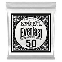 .050 Everlast Coated 80/20 Bronze Acoustic Guitar Strings 6 Pack Thumb