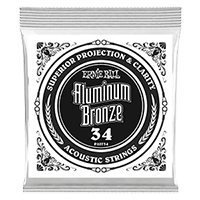 .034 Aluminum Bronze Wound Acoustic Guitar Strings 6 Pack Thumb