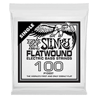 .100 Slinky Flatwound Electric Bass String Single Thumb