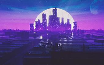 Retro Futuristic Visualizer