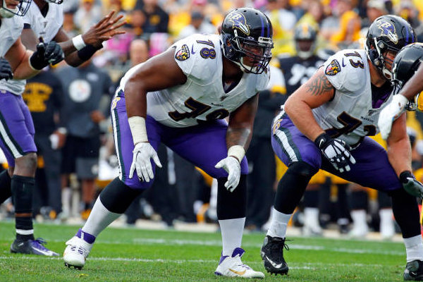 Chiefs acquire OT Brown in trade with Ravens