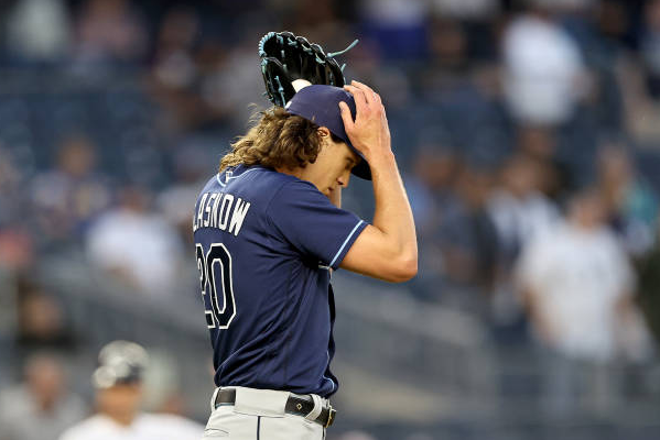 Rays' Glasnow blames MLB for UCL injury