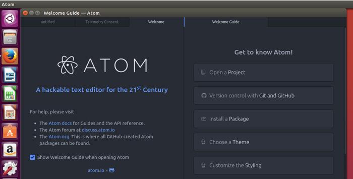 Install Atom Editor on Ubuntu