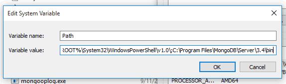 add mongodb to path windows