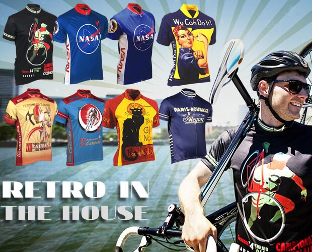 retro image aparel cycling jerseys in the house
