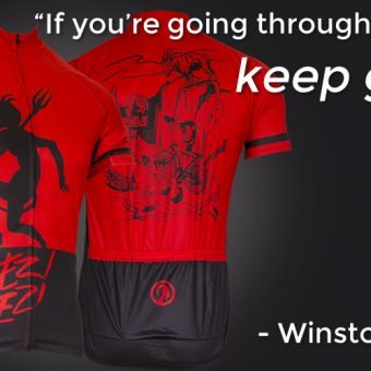 going through hell cycling jersey