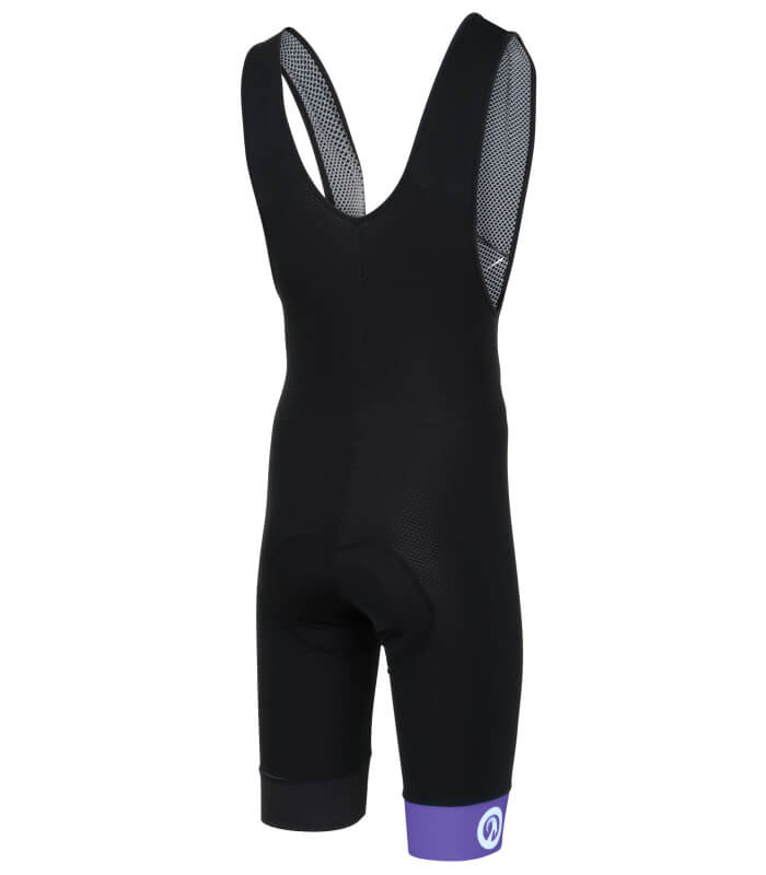 stolen goat bodyline one bibshorts purple back