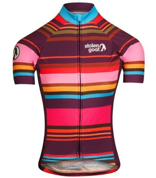 stolen goat hypervelocity womens short sleeve cycling jersey front