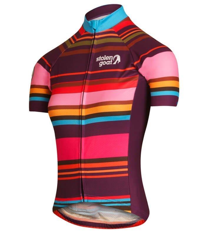 stolen goat hypervelocity womens short sleeve cycling jersey side