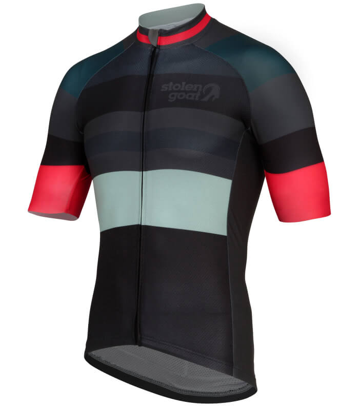 stolen goat slipstream red short sleeve cycling jersey side