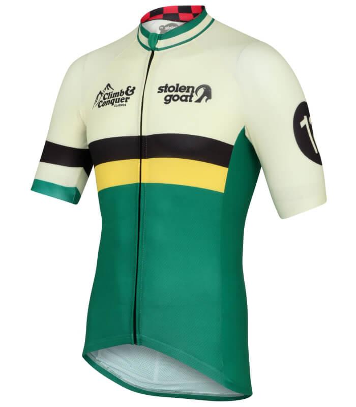 stolen goat climb conquer mens short sleeve cycling jersey side