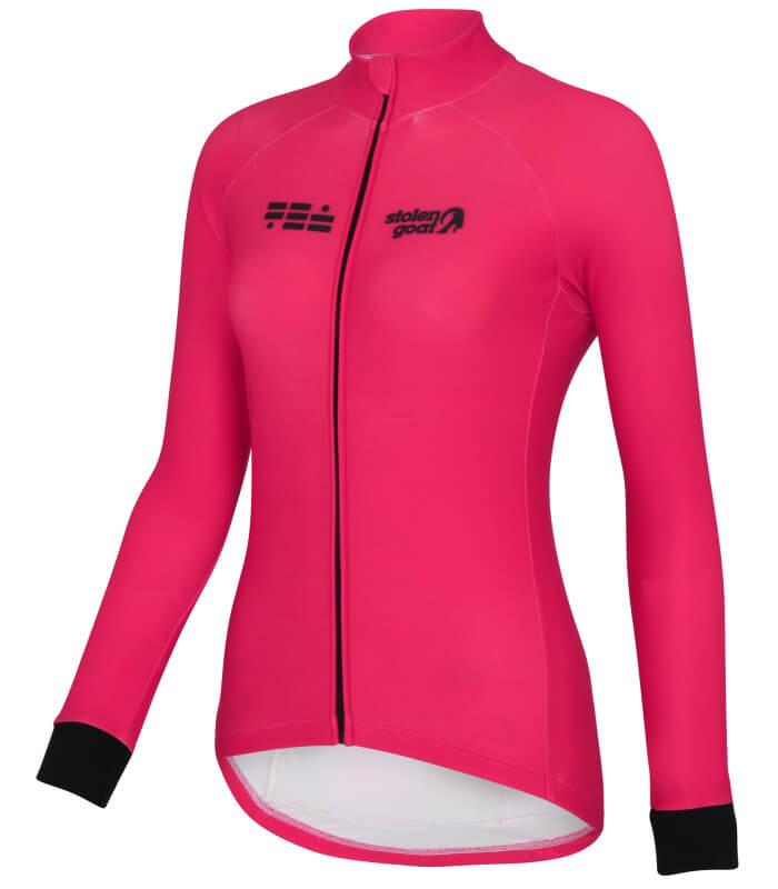 orkaan everyday jersey ls pink front ladies