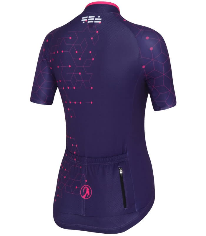 stolen goat purple cycling jersey ladeis intergalactic back