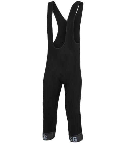 stolen goat Orkaan 3-4 length cycling waterproof tights black front
