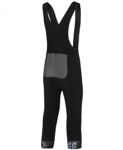 stolen goat Orkaan 3-4 length cycling waterproof tights black back