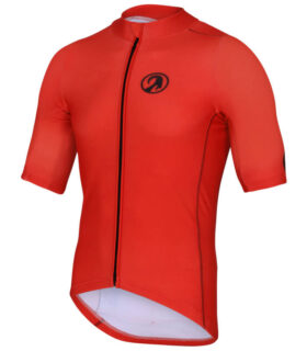 orkaan race tech waterproof cycling jerseys mens red front