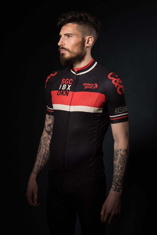 mens red retro cycling jersey top