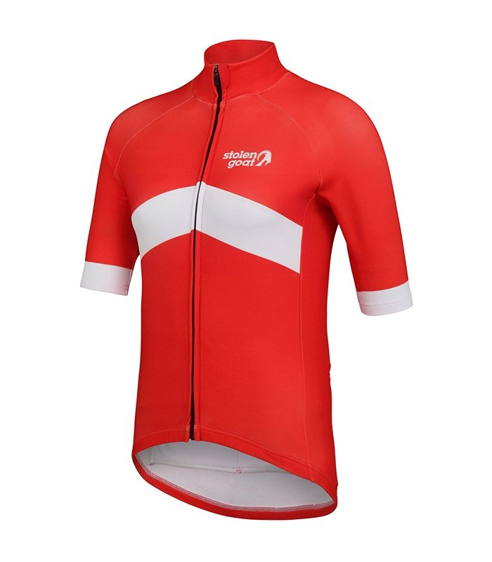 orkaan everyday waterproof cycling jersey ss ladies orange front