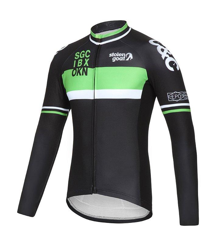 bodyline-ls-mens-jersey-retro-racer-green-front
