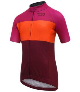 stolen goat industry orange brights kids cycling jersey