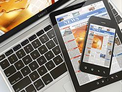 Digital news laptop mobile