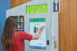 Farmer's Fridge touchscreen order