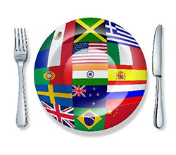 Plate with flag
